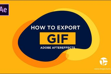 """How to export """"GIF"""" from Adobe After Effects"""