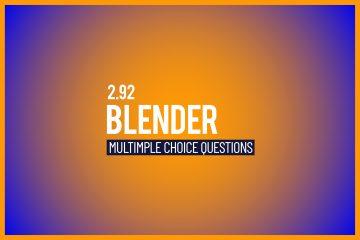 BLENDER MULTICHOICE